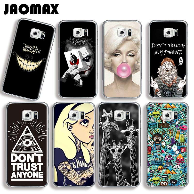 Smile Eye Comics Giraffe Killing Joke Phone Case For Samsung Galaxy S7 S6 S5 S4 S3 Edge S8 Plus Silicone Transparent Back Cover