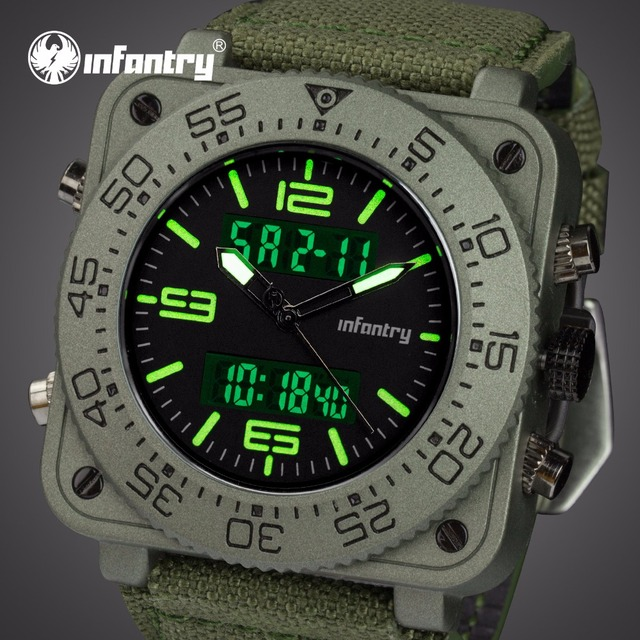 INFANTRY Military Watch Men Analog Digital Mens Watches Top Brand Luxury Tactica