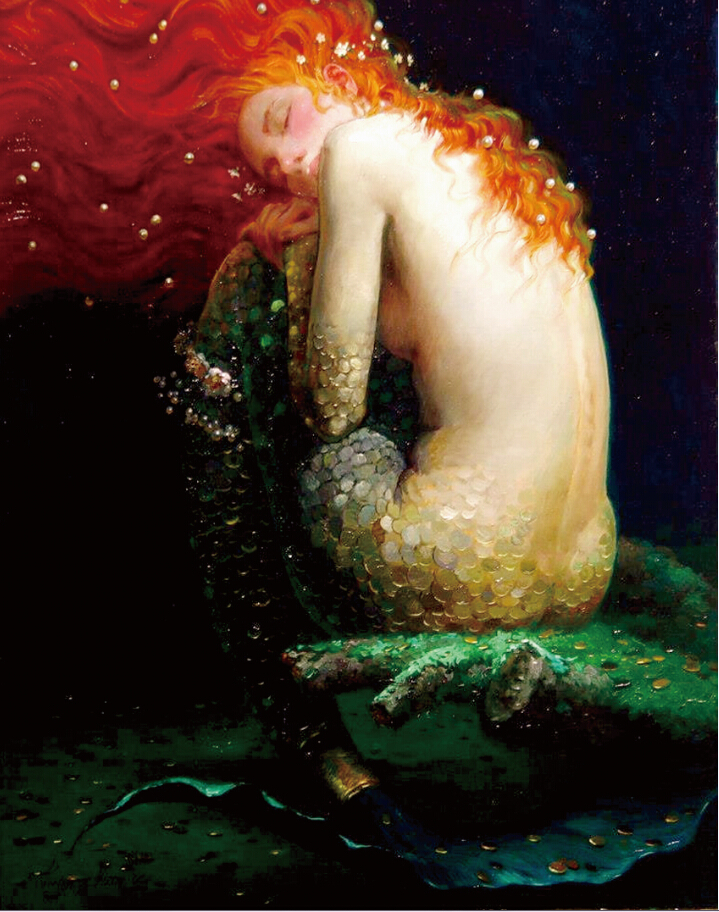 Free shipping,Victor Nizovtsev,mermaid,HOME WALL Decor ...