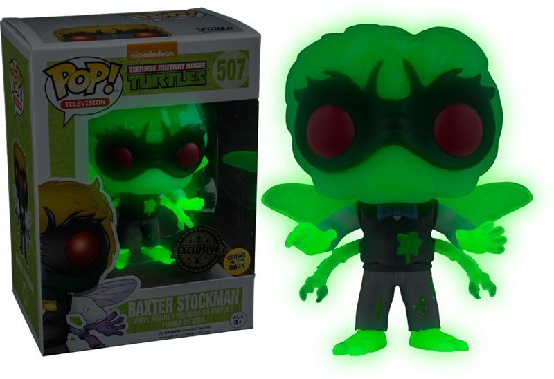 2017 SDCC Exclusive Funko pop Glow in The Dark Official TMNT Baxter Stockman Vinyl Action Figure Collectible Model Toy in Stock glow in the dark focus toy plastic fidget spinner
