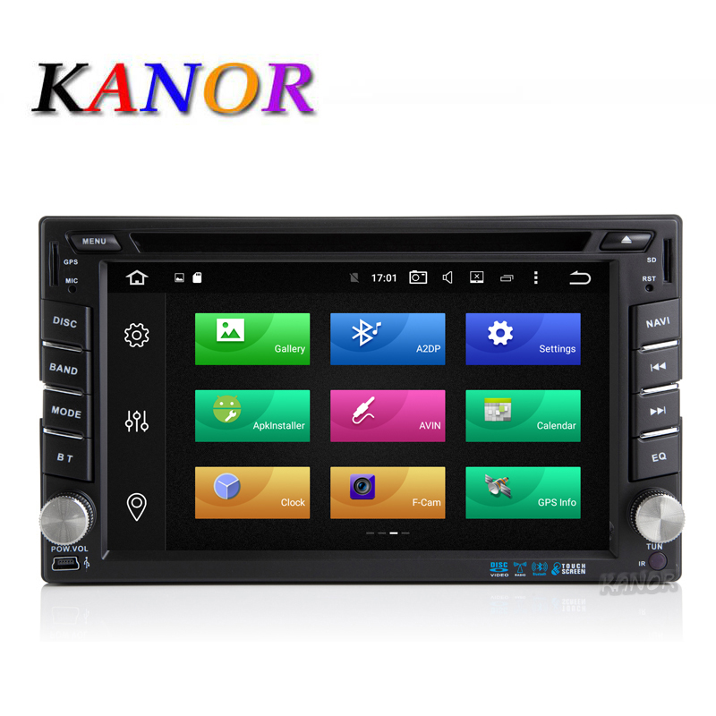 KANOR Android 8.0 32g Octa base 4g 2 Din Universel Voiture DVD Lecteur Vidéo Avec GPS Navigation Bluetooth Multimédia WIFI USB SD carte