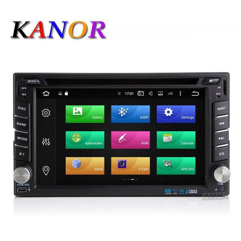 Kanor Android 8.0 32 г Octa core 4 г 2 din универсальный автомобильный DVD видео плеер с GPS навигации <font><b>Bluetooth</b></font> мультимедиа WI-FI USB SD Географические карты