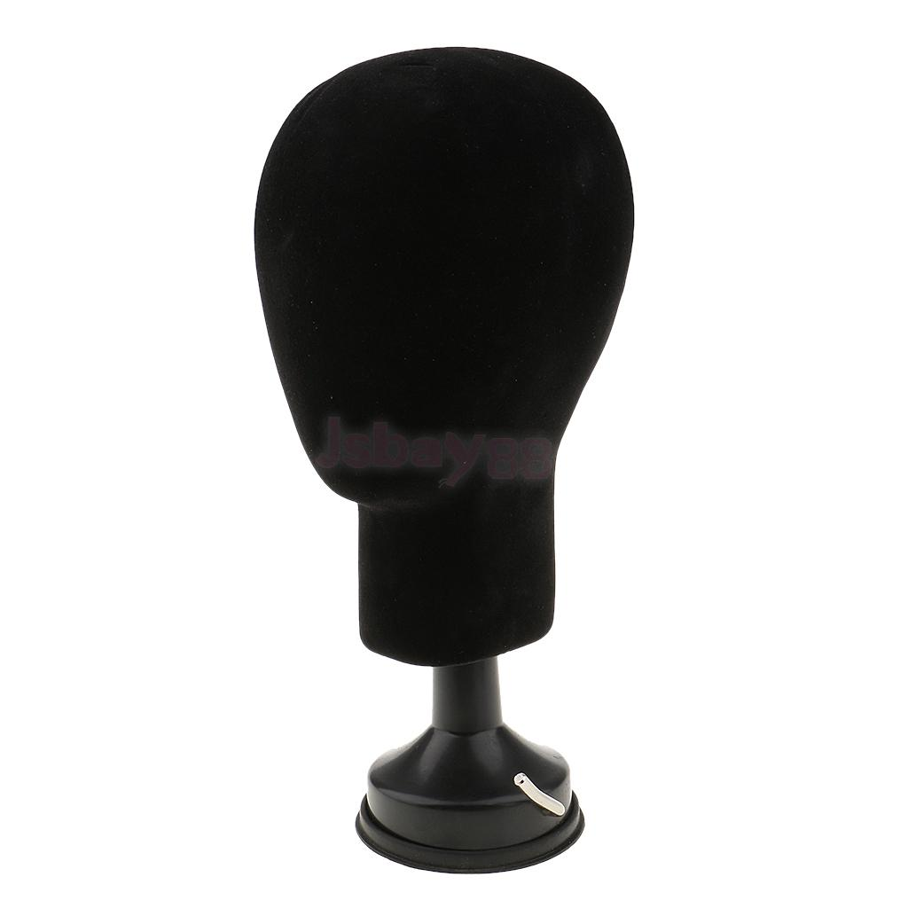 Premium Quality Styrofoam Mannequin Foam Manikin Head Dummy Model Wigs Toupee Caps Glasses Display Stand with Base Plate