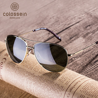 COLOSSEIN Orange Label Medium Large Sunglasses Polarized Lens Glasses 100 UVA UVB Protection For Ladies Gentleman