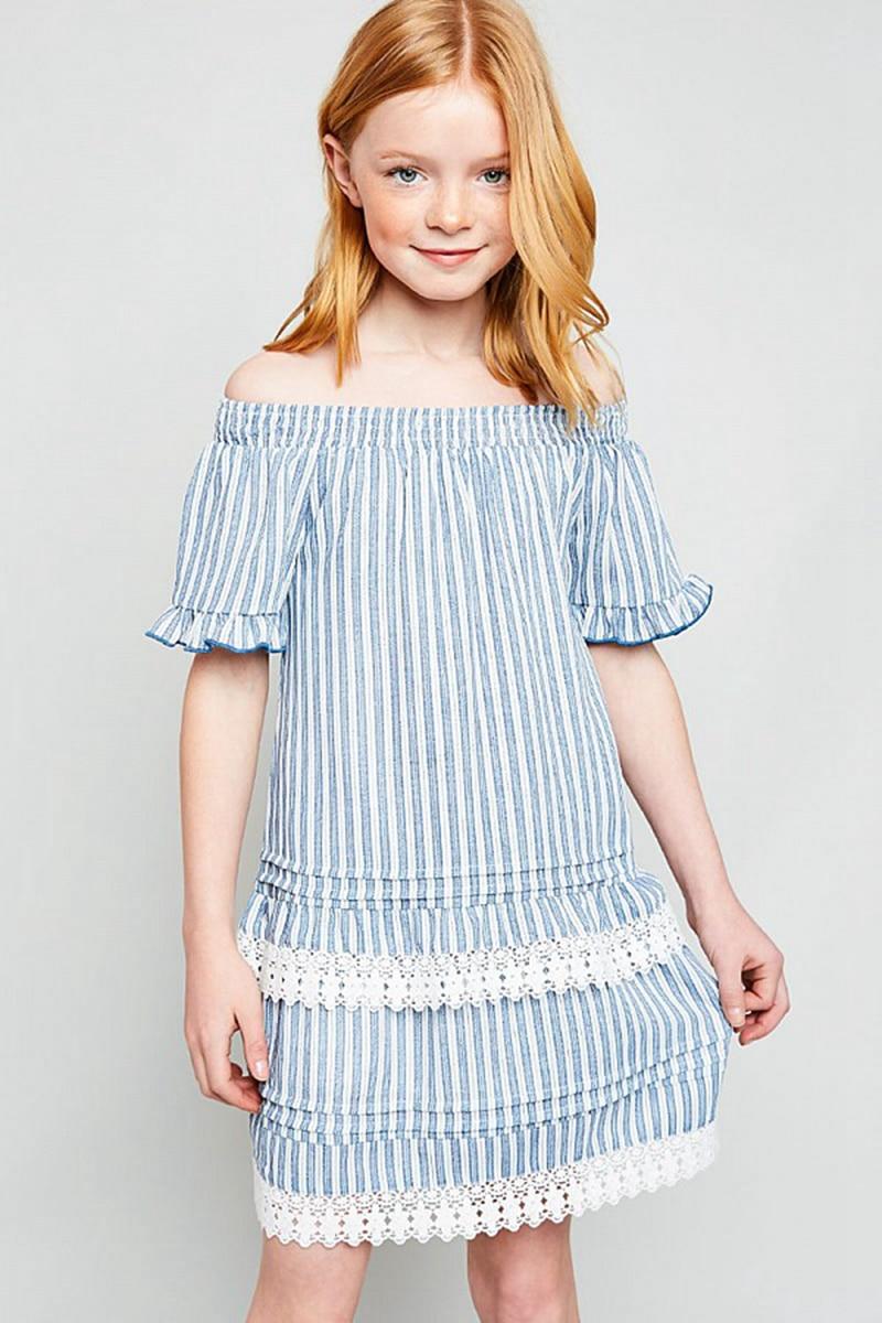 Big Baby Girl Plaid Dresses Teenager Fashion Off shoulder ... |Junior Summer Clothes