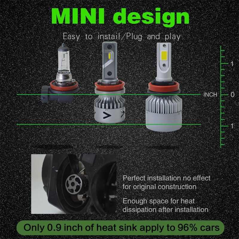 Новые продукты нового поколения автомобильные лампы Led H1 H3 H8 H9 H4 H7 H11 9012 Led 880 881 9008 H13 9004 9007 Авто светодиодные фары