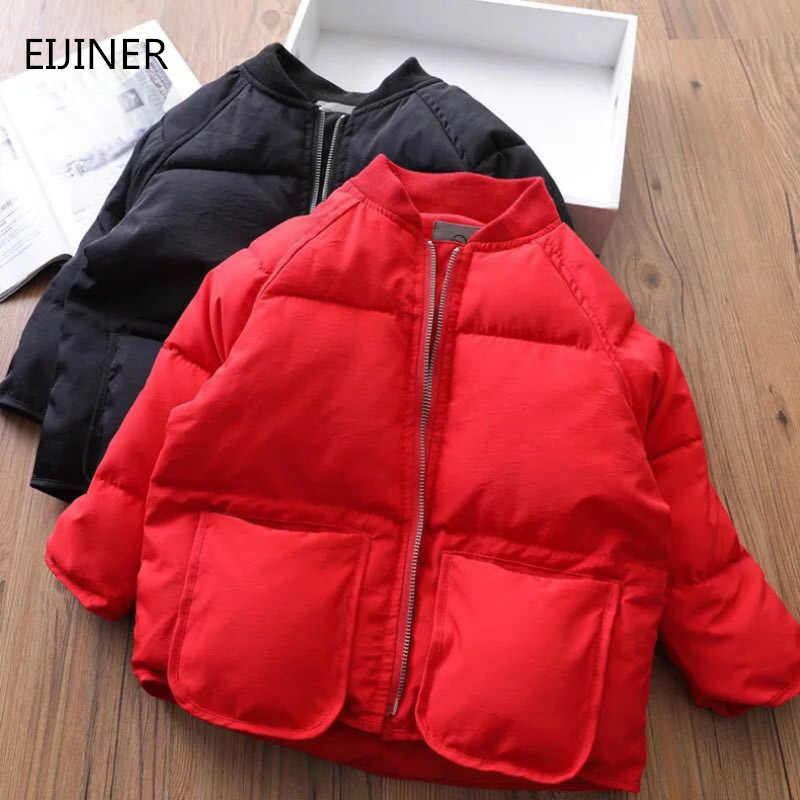 Boys Girls Cotton Winter Fashion Sport Jacket Outerwear Children Cotton-padded Down Coat Boys Girls Autumn Warm Coat