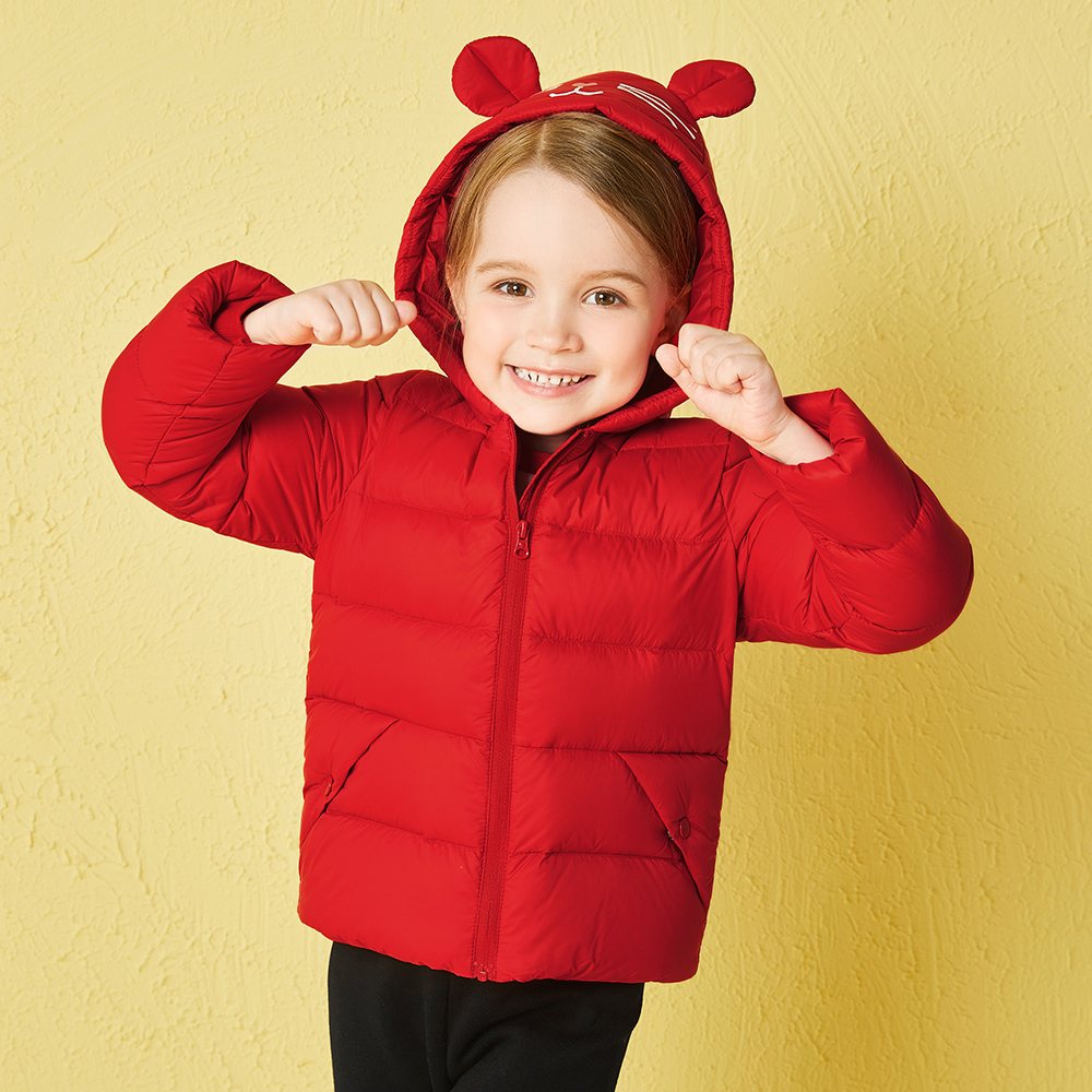 Balabala winter Hooded down jacket for toddler girls kids clothing Children clothes girls winter coats with cute cat embroideryBalabala winter Hooded down jacket for toddler girls kids clothing Children clothes girls winter coats with cute cat embroidery