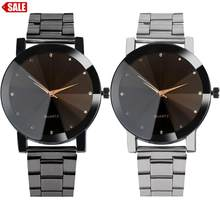 Men's Watch 1PC Fashion Man Women Crystal Stainless Steel Analog Quartz Wrist Watch drop shipping 2018JUL9(China)