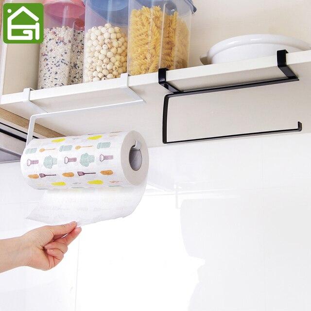 Us 67 46 Offküche Waschen Tuch Aufhänger Schrank Kleidung Haken Unter Regal Einweg Papier Hängende Lagerung Rack Schrank Handtuch Regale In