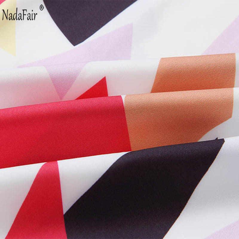 Nadafair летнее платье женское Плиссированное миди цветное клетчатое платье с принтом без рукавов пояс Элегантное Длинное Платье офисное платье