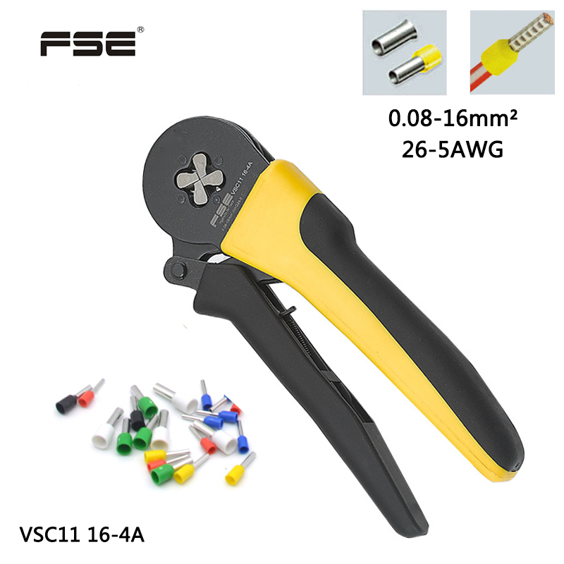 VSC11 16 4A 0 08 16mm 2 26 5AWG Adjustable Precise Crimp Pliers Tube Bootlace Terminal