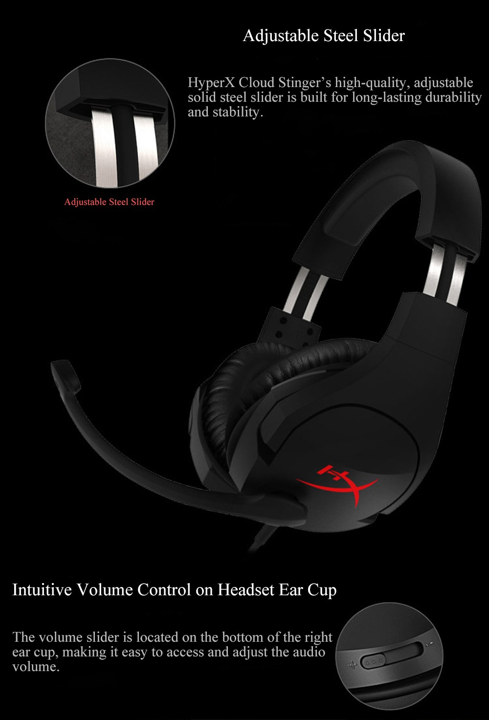 Kingston HyperX Cloud Stinger Auriculares Mic Headphone Steelseries Gaming Headset with Microphone For PC PS4 Xbox Mobile 32