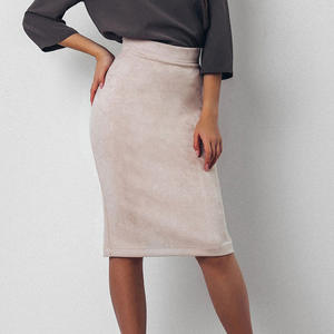 miss moly Skirt Women High Waist Knee-Length Pencil Skirts