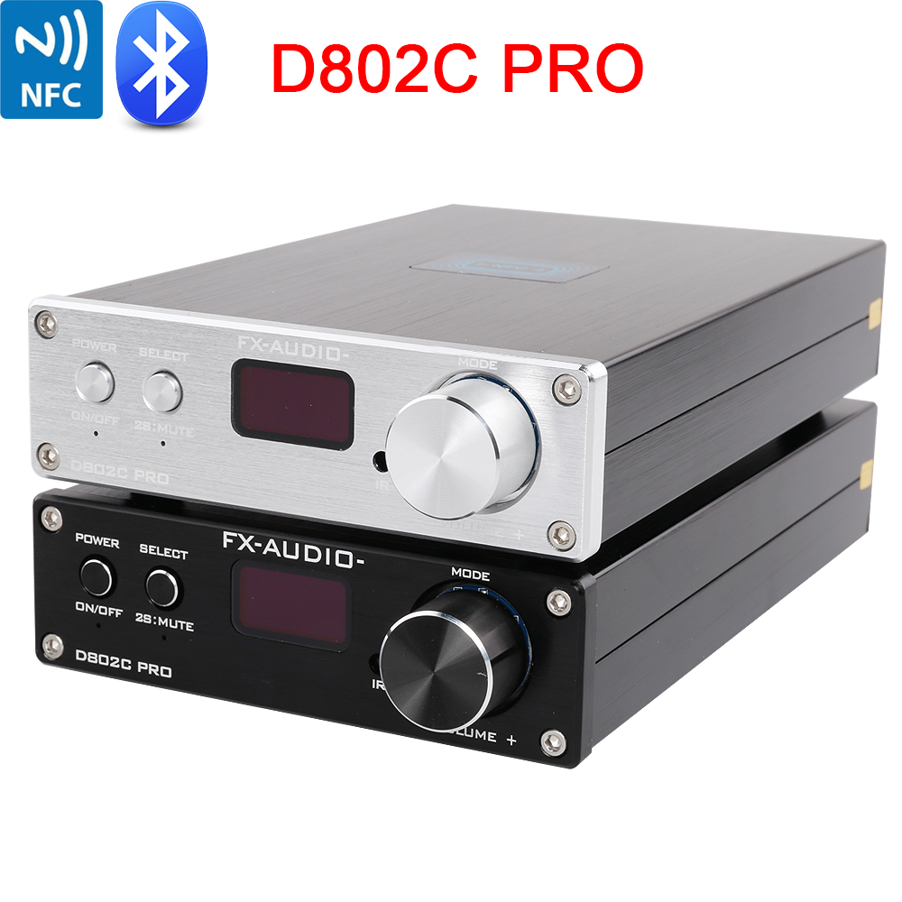 FX Audio D802C PRO Wireless Bluetooth 4.2 Support APTX NFC USB /AUX/Optical/Coaxial Pure Digital Audio Amplifier 24Bit 192Khz