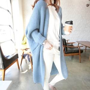 Knitted Sweater Tops Jumper Women Cardigans Loose Female Long-Section Winter Spring Casual