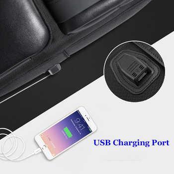 BOPAI Mochilas Korean Style 15.6 inch Laptop Backpack USB Charge 14 inch Waterproof Men Backpack Travel Backpack Black Bagpack
