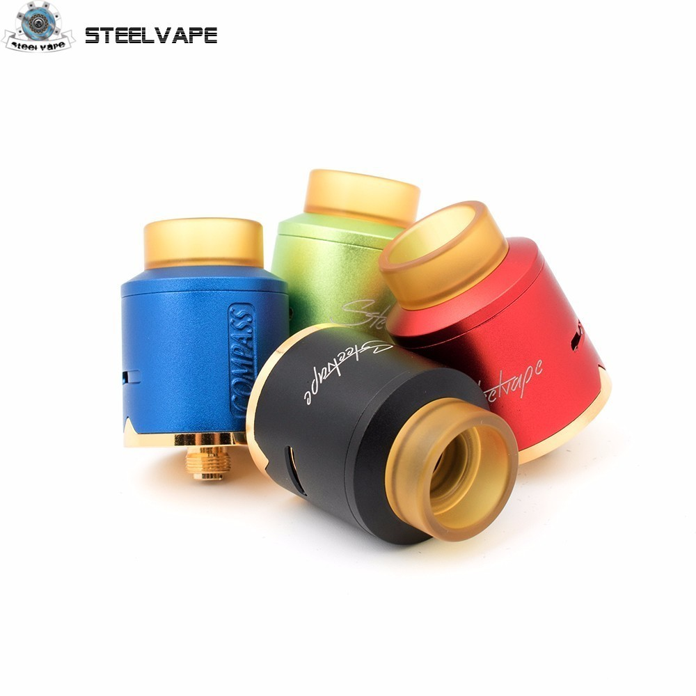 Autentisk Steelvape Compass RDA 25mm Big Vaping Clouds Masterpiece Vaporizer 510 tråd återuppbyggbara elektroniska cigaretter