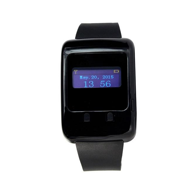433 MHz Relógio de Pulso LED Receptor para sistema de Chamada Sem Fio Sistema de Paginação para o Bar do Hotel com a Aprendizagem de Código F3272A