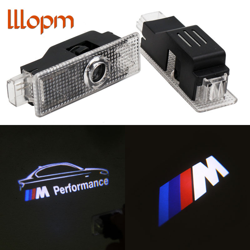 lllopm For BMW X5 X1 X3 X6 E90 E60 F30 F10 F15 E63 E64 E65 E86 E89 E93 F02 E61 GT M Performance Logo Car LED Door Welcome Light
