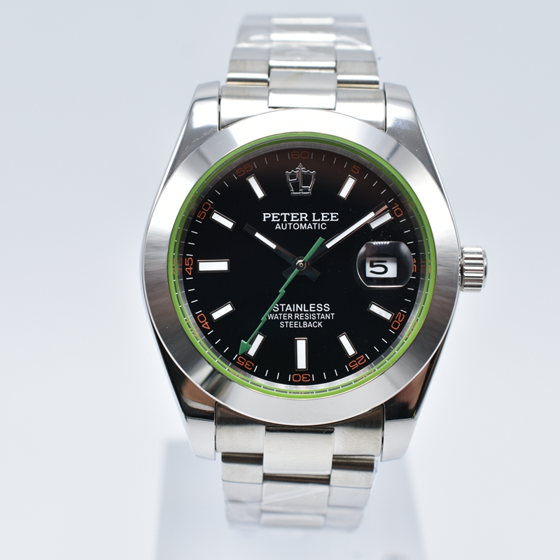 HTB1AaC1hH5YBuNjSspoq6zeNFXaj PETER LEE Automatic Mechanical Mens Watches Top Brand Luxury Male Clocks Full Steel Watch Classic Fashion Men Watch reloj hombre