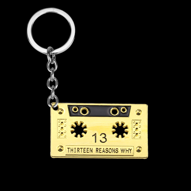 Thirteen Reasons Why Audio Tape Keychain Cassette 13 Reasons Why
