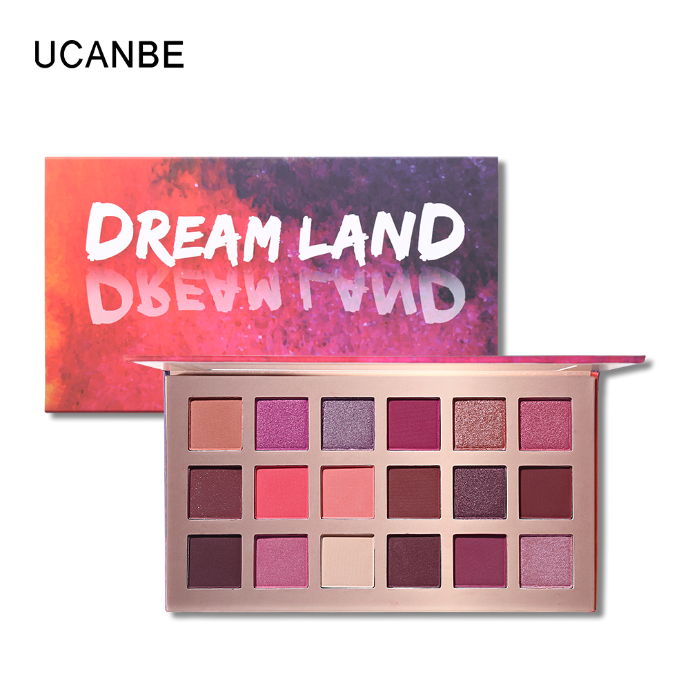 Ucanbe 18 Color Matte Sparkle Eye Shadow Nude Natural -5101