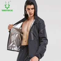 Vansydical Men's Hot Sweat Sports Jackets Running Fitness Tops Gym Clothes Windproof Cycling Climbing Outdoor Sports Jackets