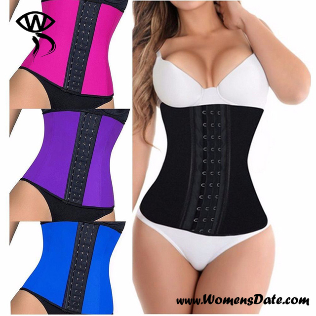 085fbb1d4d WomensDate Latex Waist Slimming Belt Miss Fitness Corset Latex Waist  Workout Steel Bone Waist Trainer Waist Cincher