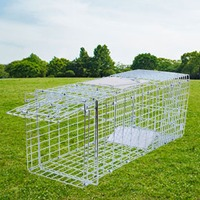 (Ship from US ) Humane Animal Trap 26x10x11 Cage Metal Door Frame For Rodent Control Rat Mice Skunk Cat live