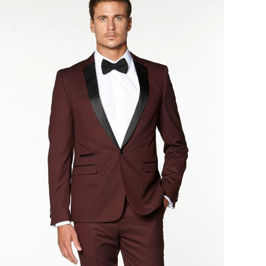 Popular Slim Fit Burgundy Suit-Buy Cheap Slim Fit Burgundy Suit