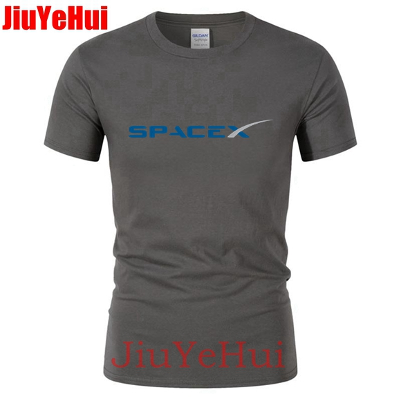 SpaceX Car   T     shirts   men Space X Logo Men's   T  -  shirt   Popular Custom Short Sleeve Boyfriend Cars tshirt simple style Tee Tshirt