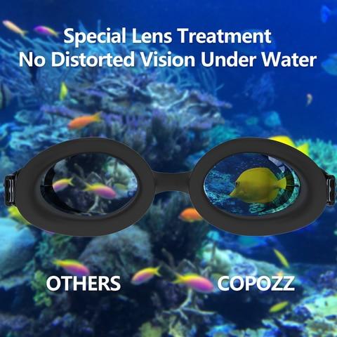COPOZZ Professional Men Women Swimming Goggles Anti Fog  Leak UV Protection Swim Eyewear Adjustable Adult Water Glasses Zwembril Multan