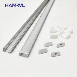 HAMRVL 2-10 комплектов в партии 0,5 м 12 мм Светодиодная лента алюминиевый профиль для светового канала плоский корпус молочный чехол прозрачные т...