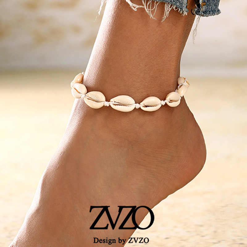 New Anklets for Women Shell Foot Jewelry Summer Beach Barefoot Bracelet Ankle on Leg Female Ankle Strap Bohemian Accessories