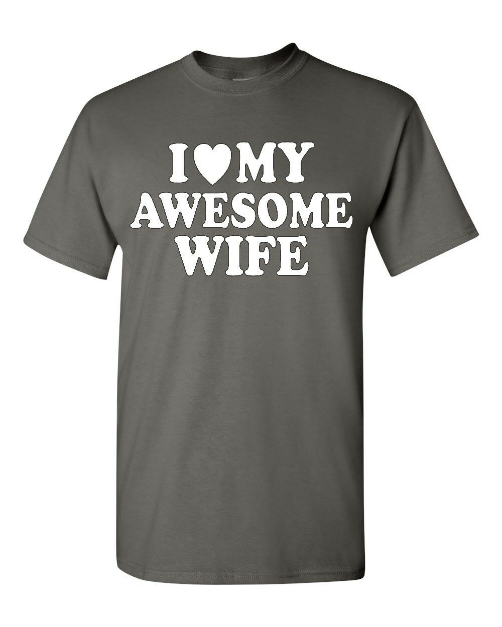 I Love My Awesome Wife T Shirt Funny Couples Matching Anniversary Valentines Tee free shipping cheap tee tops wholesale tee
