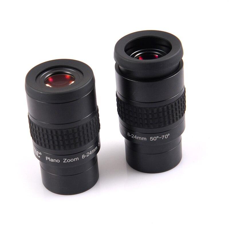 HERCULES PLANO 2 pouces ZOOM Oculaire 8-24mm 50-70Degree Oculaires pour Astronomique Télescope Entièrement Multicouches