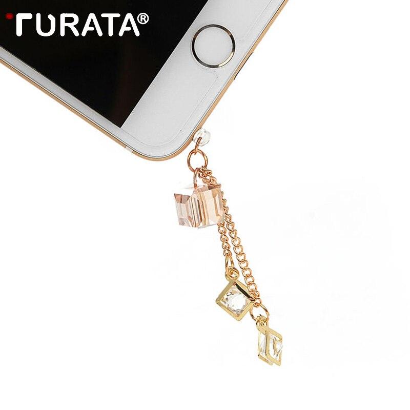 TURATA Universal 3.5mm Diamond Dust Plug Mobile Phone Accessories Gadgets Earphone Enchufe Del Polvo Plugs For iPhone 8 7 6 6S 5