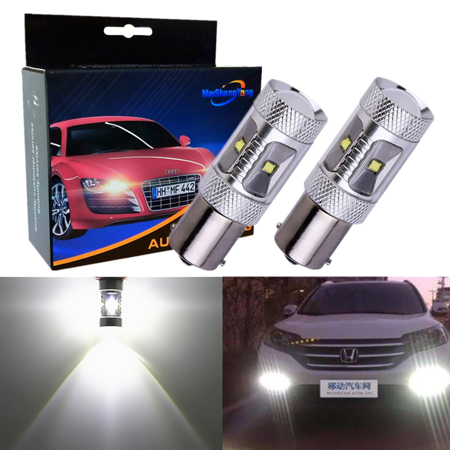 2Pcs 1156 BA15S LED Bulbs Auto Fog Tail Turn Cree Led Chip S25 P21W Light R5W Lamp parking Reserve Lights car light source B243 in Signal Lamp from Automobiles Motorcycles