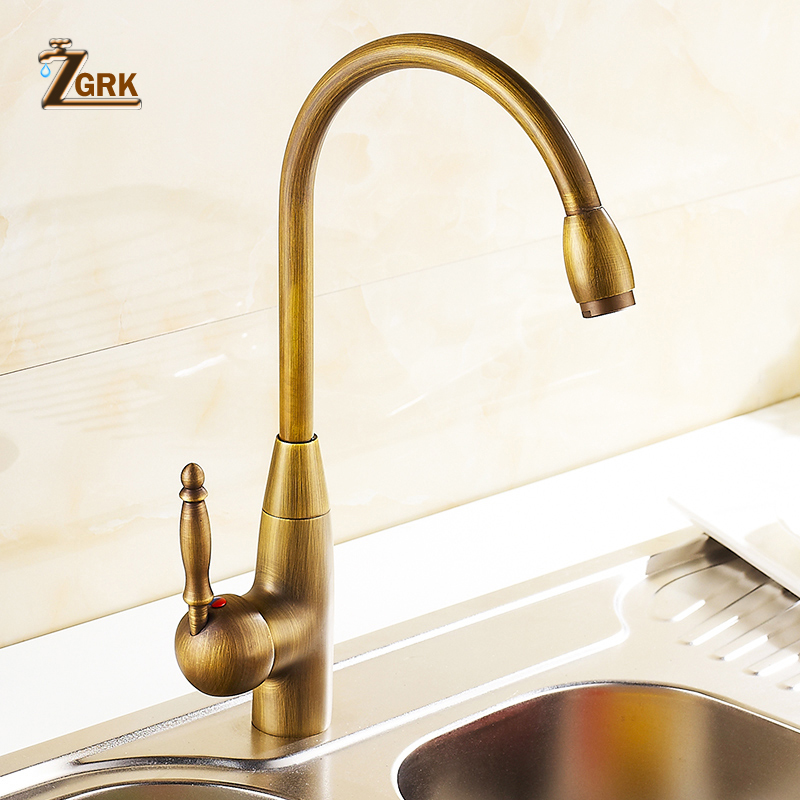 Kitchen Faucets 360 Swivel Antique Brass Porcelain Mixer Tap Bathroom Basin Antique Faucet 360 swivel kitchen faucet antique brass chrome polish double handle bathroom basin sink mixer tap faucets
