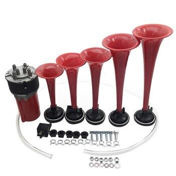 Altavoz de vehículo Musical Kit de trompeta de cuerno de aire de 5 bocinas de coche de 110DB