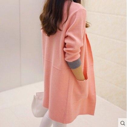 2019 Módní dámský pletený svetr s dlouhým rukávem Nadměrný svetr Poncho dámská podzimní svetr plus velikost Loose Coat