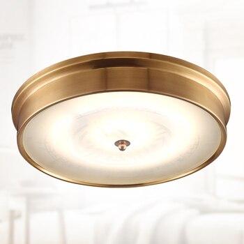 Amerikan bakır yuvarlak LED tavan lambası led yama Avrupa giriş lambası basit atmosfer dekoratif tavan aydınlatması ZA626 ZL136