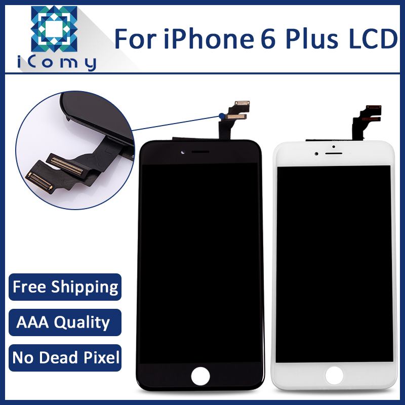 5PCS 100 Grade AAA For iPhone 6 Plus LCD Screen with Touch Digitizer Assembly Black and