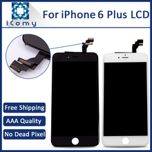 5PCS 100% Grade AAA For iPhone 6 Plus LCD Screen with Touch Digitizer Assembly Black and White 5.5 Inch Free Shipping