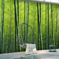 Free Shipping Bamboo Forest Wallpaper Bedroom Guest Room Hotel Theme Restaurant Movie Theater Movie Theater Leisure