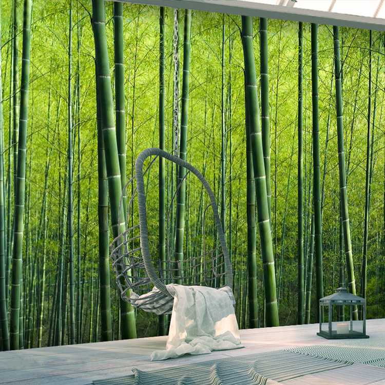 Free Shipping 3D Bamboo Forest Wallpaper Bedroom Guest Room Hotel Theme  Restaurant Movie Theater Leisure Bar