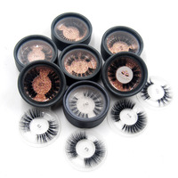 100pcs wholesale eyelashes customize private lable 3D real mink hair Cruelty Free upper full strip luxury eyelash free DHL/UPS