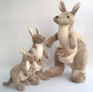 все цены на Free shipping Mother and kid kangaroo doll in Australia kangaroo plush toy 50cm