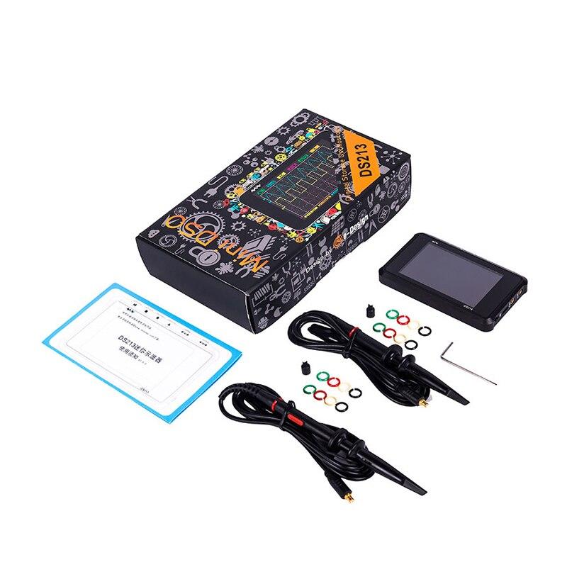 DSO213 MiniPocket LCD Numérique Portable De Stockage Oscilloscope Nano De Poche Bande Passante 1 mhz Taux D'échantillonnage 10MSa/s Molette